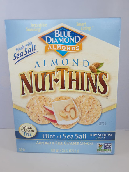 Crackers, Almond & Rice, Light Sea Salt, Wheat & Gluten Free, 4.25 oz. - Galletas, Almendras y Arroz, Menos Sal,Sin Trigo y Sin Gluten, 4.25 oz.