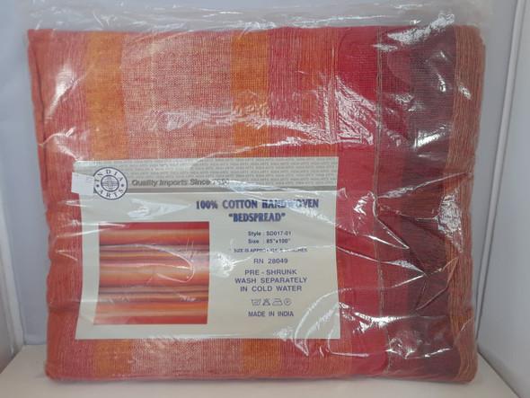 """Tapestry, Orange,  85"""" x 100"""" - Tapiz, Naranja, 85"""" x 100"""""""