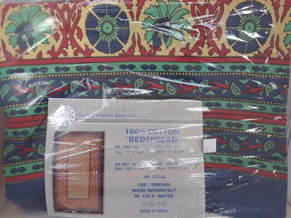 "Tapestry, Multi Pattern, 114"" x 114"" - Tapiz, Multi Patrón, 114"" x 114"""