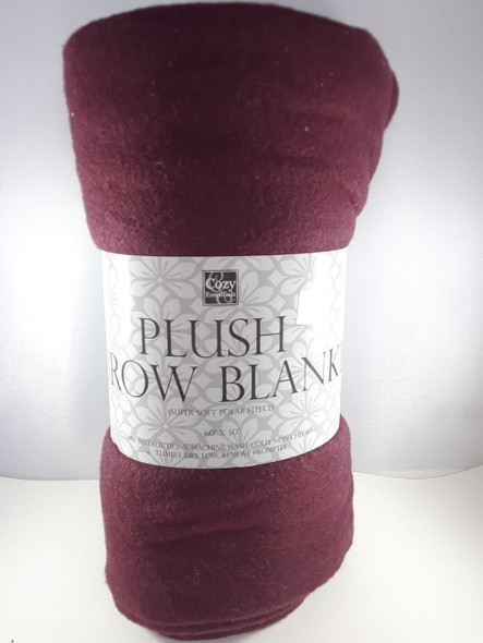 "Throw Blanket, Super Soft Polar Fleece, 60"" x 50"", Purple - Manta, Vellón Polar Súper Suave, 60"" x 50"", Púrpura"