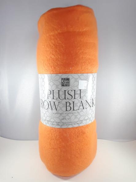 """Throw Blanket, Super Soft Polar Fleece - Manta, Vellón Polar Súper Suave, Naranja, 60"""" x 50"""""""