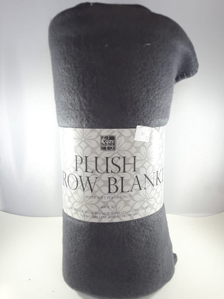 "Throw Blanket, Super Soft Fleece, Black, 60"" x 50"" - Manta, Vellón Súper Suave, Negro, 60"" x 50"""