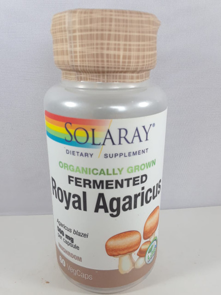 Royal Agaricus, Fermented, 500 MG, 60 Vag Caps - Agaricus Real, Fermentado, 500 MG, 60 Vag Caps