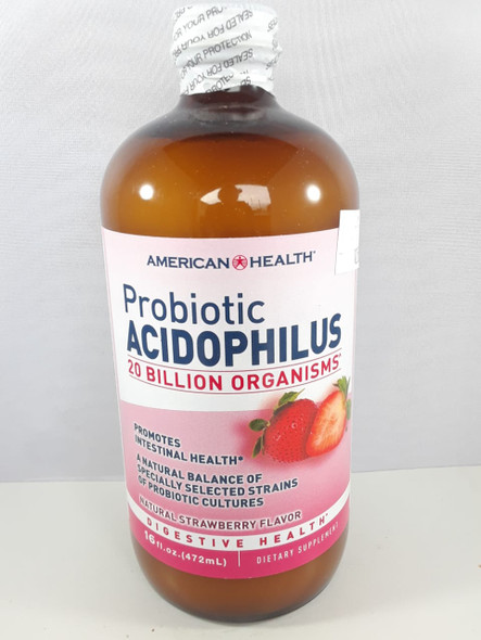 Acidophilus, Probiotic, 20 Billion, Strawberry, 16 fl oz. - Acidophilus, 20 Mil Millones, Fresa, 16 fl oz.