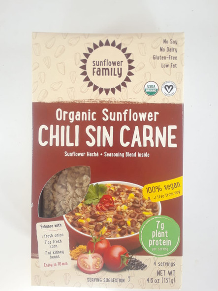 Sunflower Chili Sin Carne, 4.6 oz. - Chili Sin Carne de Girasol, 4.6 oz.