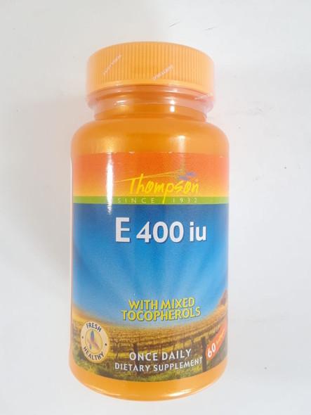 Vitamin E-400 iu, 60 Capsules - Vitamina E-400 iu, 60 Cápsulas