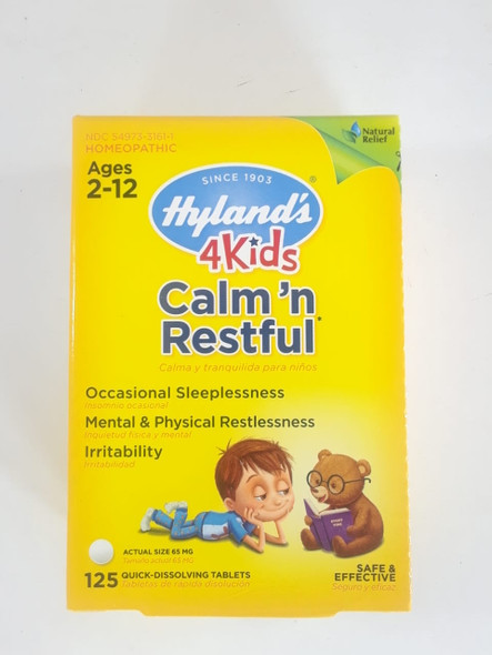 Calm n' Restful, Ages 2-12, 125 Quick Dissolving Tablets - Cálmate y Descansa, Edades 2-12, 125 Tabletas de Disolución Rápida