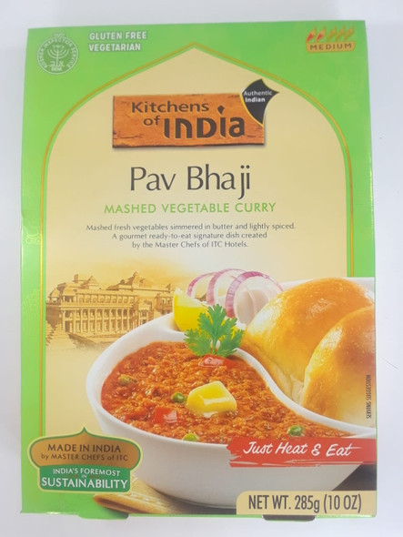Pav Bhaji, Mashed Vegetable Curry, 10 oz. - Pav Bhaji, Puré de Vegetales al Curry, 10 oz.