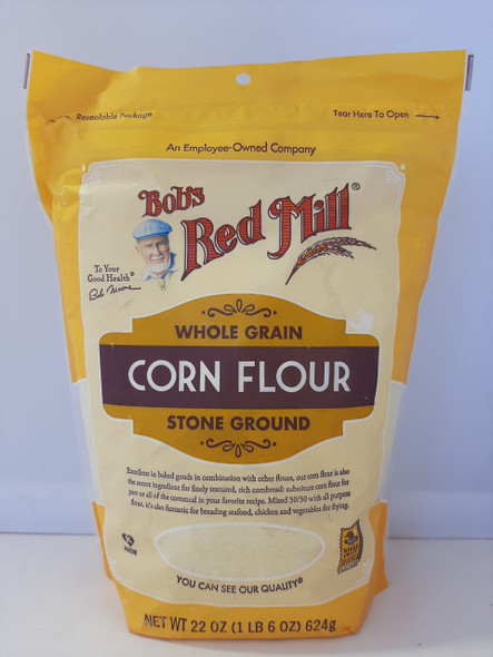 Corn Flour, Whole Grain, Stone Ground, 22 oz. - Harina de Maíz, Grano Entero, Piedra Molida, 22 oz.