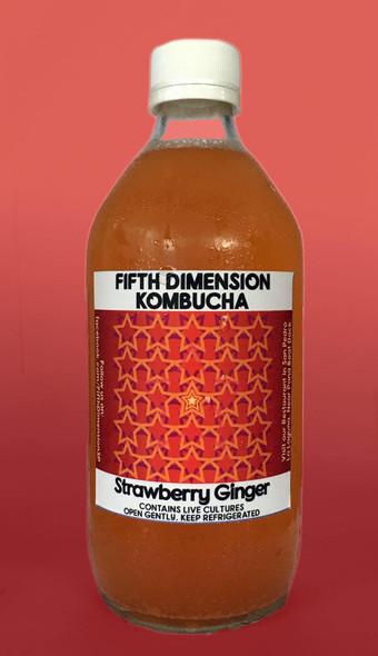 Kombucha, Strawberry Ginger - Kombucha Fresa Jengibre