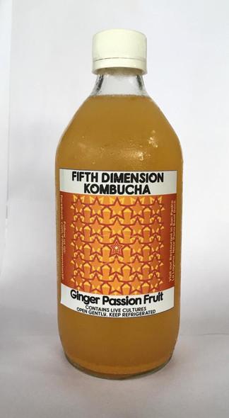 Kombucha, Ginger Passionfruit - Kombucha, Jengibre Maracuyá