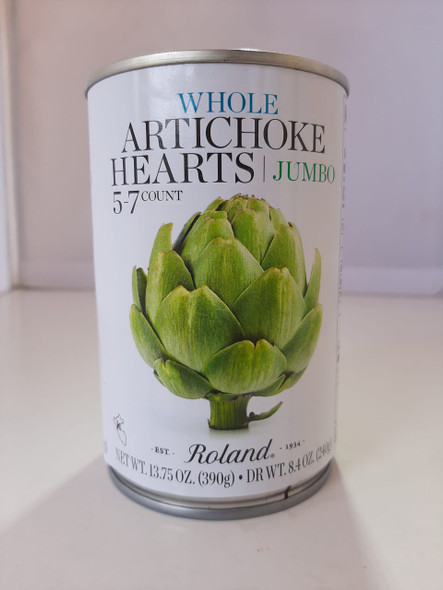 Artichoke Hearts, Whole Jumbo, 8.4 oz. - Corazones de Alcachofa, Jumbo Entero, 8.4 oz.
