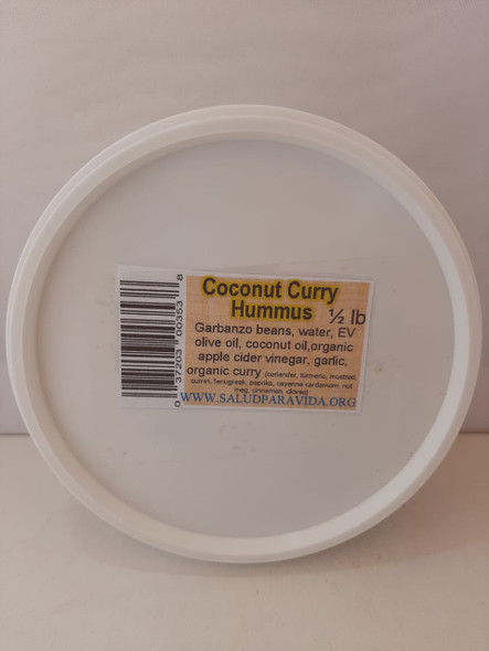 Coconut Curry Hummus, 8 oz. - Humus de Coco y Curry, 8 oz.