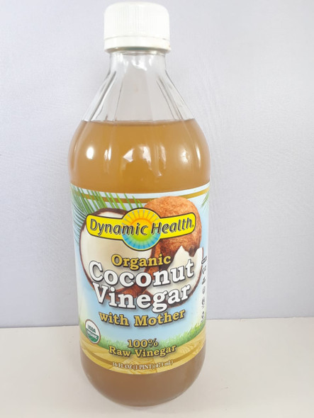 Coconut Vinegar, With Mother, Organic, 16 fl oz. - Vinagre de Coco, con Madre, Orgánico, 16 fl oz.
