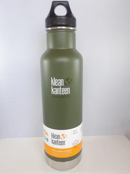 Kanteen Water Bottle, Insulated Classic, Pine, 20 oz. - Botella de agua de cantina, Clásico aislado, Pino, 20 oz.