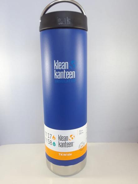 Kanteen, Water Bottle, Insulated Wide, Blue, 20 oz. -