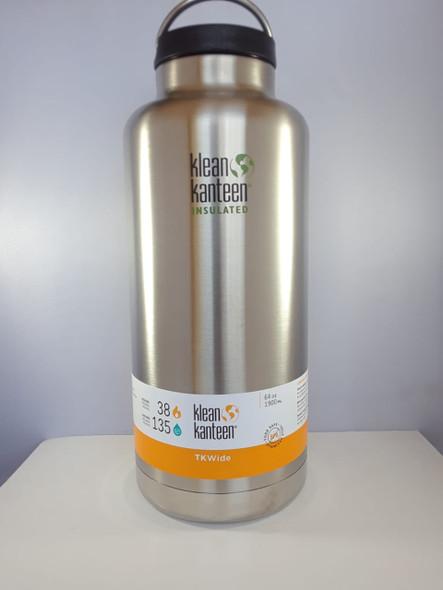 Kanteen Water Bottle, Insulated Wide, Brushed Stainless, 64 oz. - Botella de Agua de Cantina, con Aislamiento Amplio, Inoxidable Cepillado, 64 oz.
