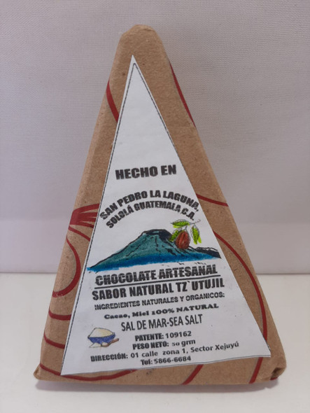 Chocolate, Sea Salt, 50 gr. - Chocolate, Sal de Mar, 50 gr.