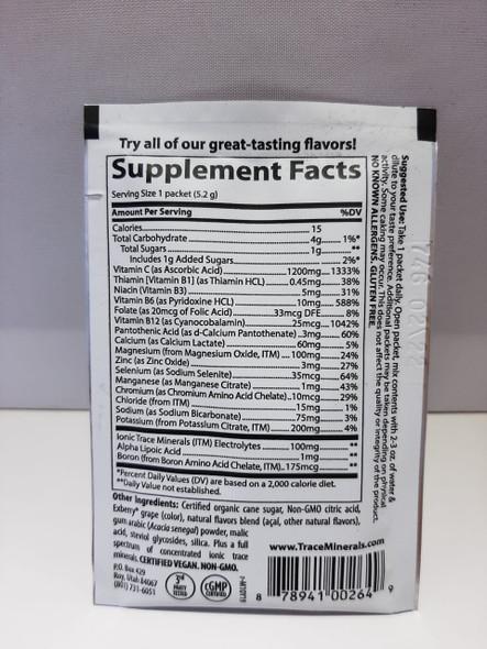Electrolyte Drink, 1200 mg Vitamin C, Acai Berry, .18 oz. - Bebida de Electrolitos, 1200 mg de Vitamina C, Acai Berry, .18 oz.