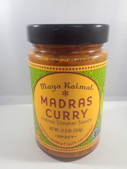 Madras Curry, Indian Simmer Sauce, Spicy, 12.5 oz. - Curry Madras, Salsa India, Picante, 12.5 oz.