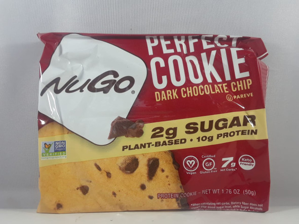 Cookie, Dark Chocolate Chip, 10g Protein, 1.76 oz. - Galletas, chispas de chocolate oscuro, 10g de proteína