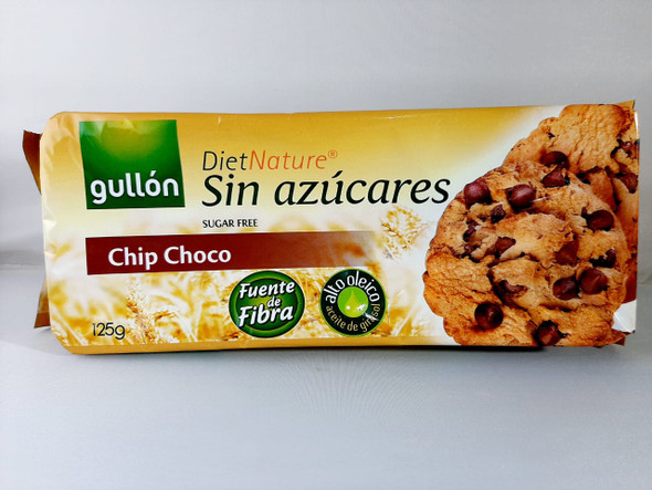 Cookies, Chocolate Chip, Sugar-Free, 125 gr.  - Galletas, Chips Choco, Sin Azucares, 125 gr.