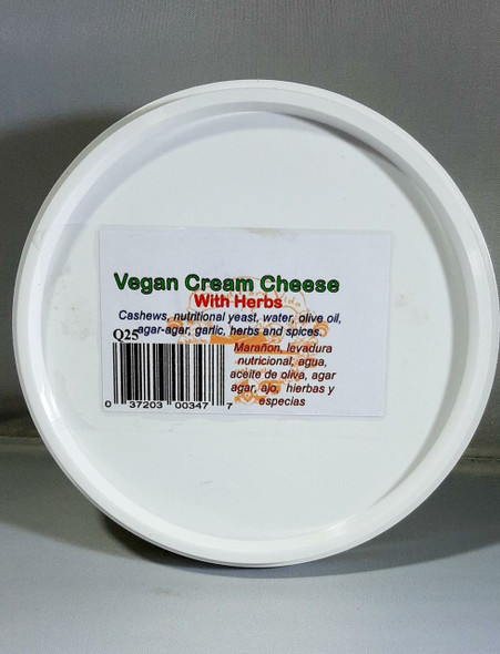 Cream Cheese, with Herbs, Vegan, 8 oz. - Queso Crema, con Hierbas, Vegana, 8 onzas