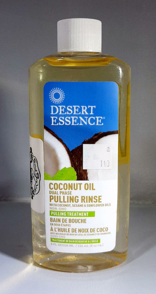 Mouthwash, Coconut Oil Pulling Rinse, 8 fl oz. - Enjuague Bucal, Enjuague de Aceite de Coco, 8 fl oz.