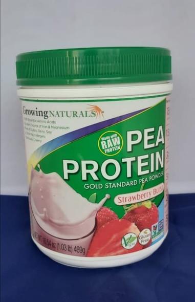 Pea Protein, Strawberry, 1.03 lb - Proteína de Guisante, Fresa, 1.03 lb