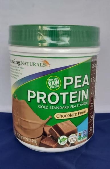 Pea Protein, Chocolate Power, 15.8 oz. - Proteína de Guisante, Poder del Chocolate, 15.8 oz.