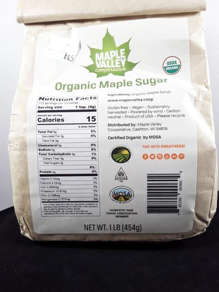 Maple Sugar, Organic, 1 lb. - Azúcar de Maple, Orgánico, 1 lb.