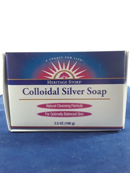 Soap, Colloidal Silver, 3.5 oz. - Jabón, Plata Coloidal, 3.5 oz.