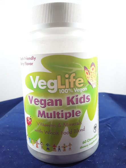 Multiple Vitamin, Vegan Kids, 60 Chewables, Mulitvitamin - Vitaminas Múltiples, Niños Veganos, 60 Masticables
