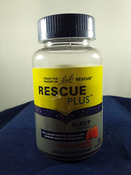 Rescue Plus, Sleep Melatonin, 60 Gummies - Rescue Plus, Melatonina para Dormir, 60 gomitas