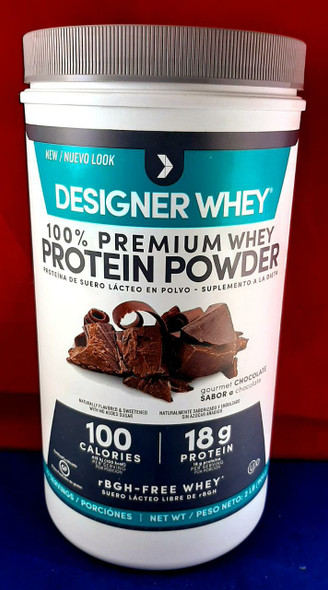 Whey Protein Powder, Chocolate, 2 lb. - Proteína de Suero en Polvo, Chocolate, 2 lb.