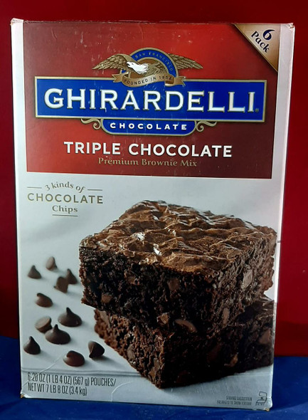 Brownie Mix, Triple Chocolate, 1 Pouch - Mezcla para Brownies, Triple Chocolate, 1 Bolsa