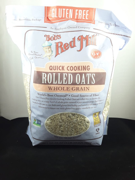 Rolled Oats, Quick Cooking, Whole Grain, Gluten-Free, 32 oz. - Avena Arrollada, Cocción Rápida, Grano Integral, Sin Gluten, 32 oz