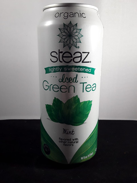 Green Tea, Iced, Lightly Sweetened, Mint, 16 oz. - Té Verde, Ligeramente Endulzado, Menta, 16 oz.