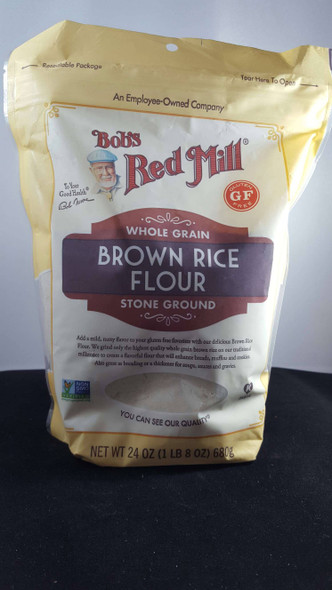 Brown Rice Flour, Whole Grain, Stone Ground, 24 oz - Harina de Arroz Integral, Grano Entero, Molido a la Piedra, 24 oz