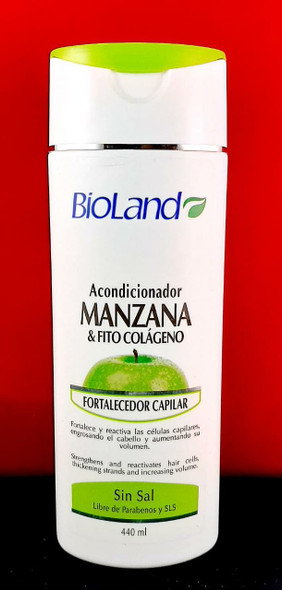 Conditioner, Apple & Phyto Collagen, Fortifying, 440 ML - Acondicionador, Manzana & Fito Colageno, Fortalecedor Capilar, 440 ML
