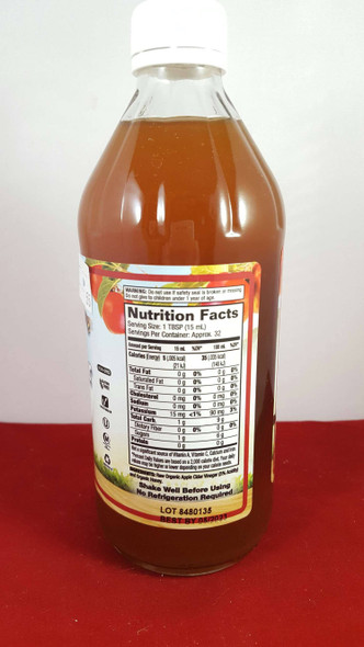Apple Cider Vinegar, with Mother & Honey, Organic, 16 fl oz. - Vinagre de Sidra de Manzana, con Madre y Miel, Orgánico, 16 fl oz.