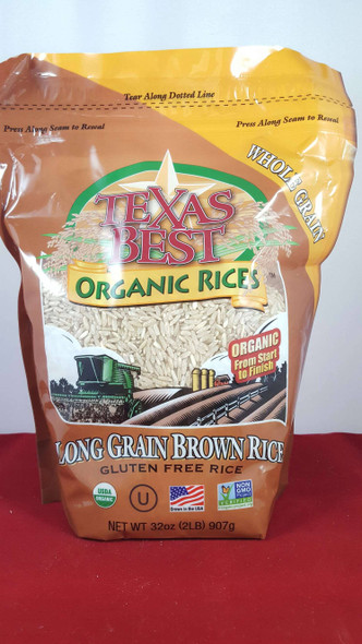 Rice, Long Grain Brown, Organic, 32 oz. - Arroz Integral de Grano Largo, Orgánico, 32 oz