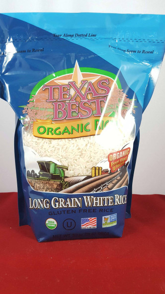 Rice, Long Grain White, Organic, 32 oz. - Arroz Blanco de Grano Largo, Orgánico, 32 oz.
