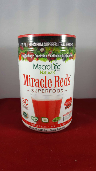 Miracle Reds Superfood, 10 oz. - Milagro Rojo Superalimentos, 10 oz.