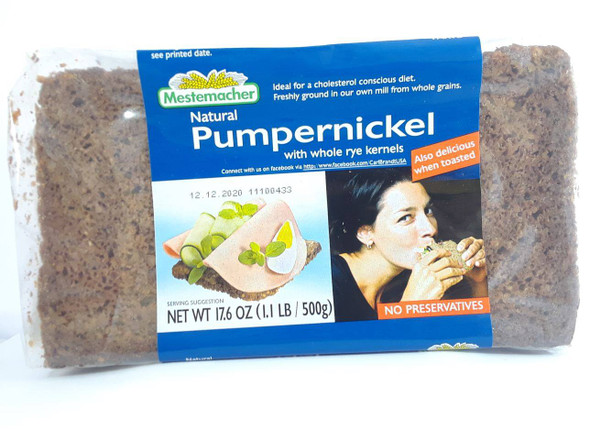 Bread, Pumpernickel, 17.6 oz. -Pan, Pumpernickel, 17.6 oz.