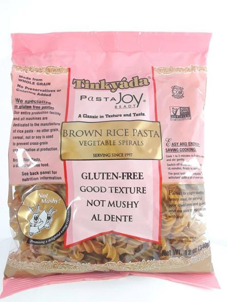 Brown rice Pasta, Vegetable Spirals, Gluten-Free, 12 oz. - Pasta de Arroz integral, Espirales vegetales, sin gluten, 12 oz.