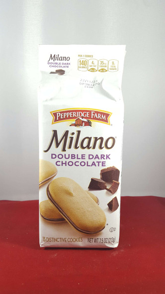 Cookies, Double Dark Chocolate Milano, 7.5 oz. - Galletas, Doble Chocolate Oscuro Milano, 7.5 oz.