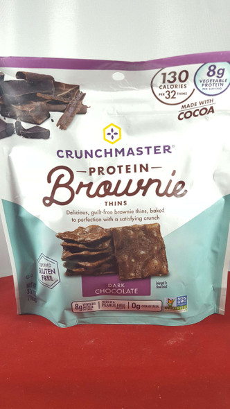 Brownie Thins, Dark Chocolate, Protein, 3.54 oz. - Galletas de Chocolate Oscuro, Proteínas, 3.54 oz.