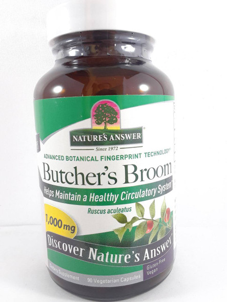 Butcher's Broom, 1000 mg, 90 Vegetarian Capsules