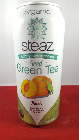 Tea, Green Iced, Peach, Lightly Sweetened, 16 fl oz. - Té Verde Helado, Melocotón, Ligeramente Endulzado, 16 fl oz.
